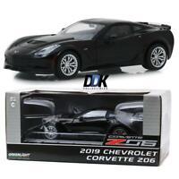 GREENLIGHT 18255 2019 Chevrolet Corvette Z06 Coupe - Black Diecast Car 1:24