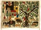 Ramses Wissa Studio Egyptian Tree of Life Woven Pictorial Tapestry 39 x 54