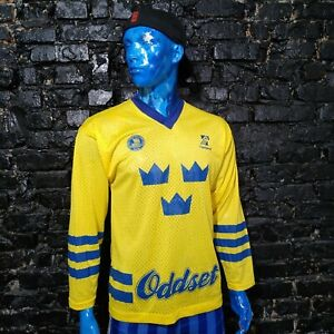 Sweden HOCKEY JERSEY TIPSTJANS Svenska Ishockey Forbundet Yellow Men SZ Young XL