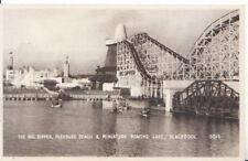 Lancashire Postcard - Big Dipper and Miniature Boating Lake, Blackpool - 5884A