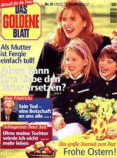 Zeitschrift DAS GOLDENE BLATT Nr. 15 v 1995, Fergie auf Titelseite, M. Caballé