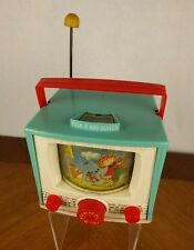 "VTG 1964 Fisher Price Peek A Boo TV Music Box ""Hey Diddle Diddle"" Screen Toy"