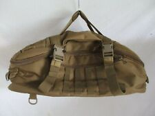 Yukon Tactical Bug Out Earth military brown nylon duffle weekender bag nwt new