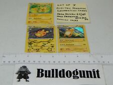 Lot of 3 Electric Type Pokemon Generations Cards Raichu Holo 27/83 Dedenne