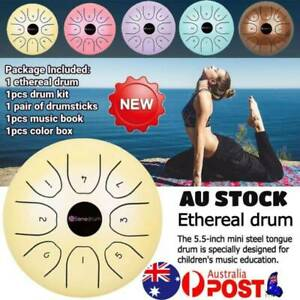 5.5-inch Steel Tongue Drum Notes Percussion Instrument Lotus Hand Pan Drum HOT