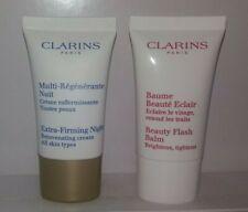 Clarins Extra Firming Night Cream + Beauty Flash Balm 15 ml ea sealed nwob
