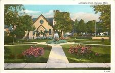 Owosso Michigan~Lafayette Park~Home of the Next President1920s PC