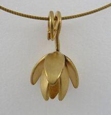 "Ola Gorie Jewellery 16""40.5cm 9ct Yellow Gold Clova Flower Pendant Boxed Wire"