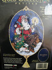 Christmas Dimensions GOLD PETITES Counted Ornament Kit,SANTA WITH FRIENDS,8559