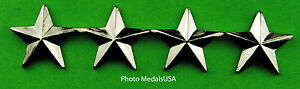 4 Star General Rank silver - collar, shirt, hat, ball cap insignia