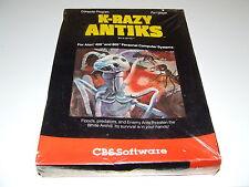 K-RAZY ANTICS by CBS Atari 400/800 XE/XL New old stock (Swrinkwrap slight split)