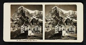 19.STEREOVIEWS>SWITZERLAND/SCHWEIZ<KLEINE, Scheidegg und Eiger (3975m.)