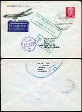 AIRMAIL FLIGHT BERLIN YUGOSLAVIA UNDELIVERED + RETURN HANDSTAMPS..SPECIAL CANCEL