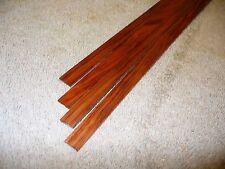 "Bubinga 1/2"" wide solid exotic wood binding strips, 4 pieces"