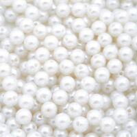 900 Acryl Spacer Perlen Kugeln Beads Wachsperlen Weiß 8mm L/P