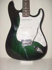New Full Size 6 String Transparent Green S Style Electric Guitar with Gig Bag