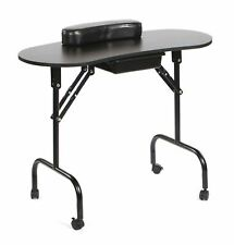 Urbanity portable foldable mobile manicure nail beauty salon table desk black