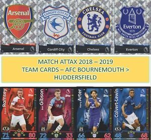 Topps Match Attax 2018 2019 18 19 Choose your Team player cards #1 to #180