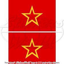 SOWJETUNION ROTE ARMEE Flagge Fahne UdSSR Russland Sowjet 100mm Aufkleber x2