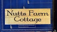 House Sign  Personalised Carved Custom Engraved Outdoor Wooden Name Plaque hard