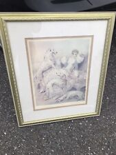 "Louis icart Print Symphony in White 27x 24"" Framed Matted By Fine Arts Gallery"