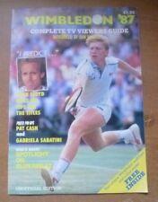 Wimbledon '87 - Preview Magazine / Wallchart (Unofficial).