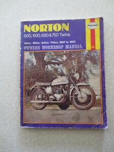 1957 - 1970 Norton 500 600 650 & 750 Twins motorcycles - Haynes shop manual