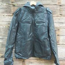 Levi'S Men's Faux-Leather Jacket With Hood Size M