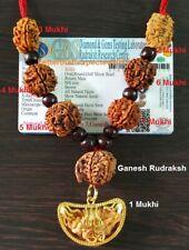 Rudraksha Rudraksh 1 2 3 4 5 6 7 Ganesh Mukhi Beads Mala Necklace Face Rosary R1