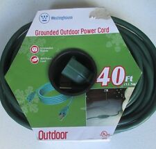 New ! Westinghouse 40 FT Indoor Outdoor Garden Extension POWER Cord 3 Grounded