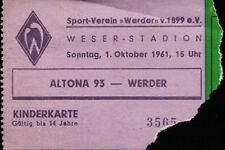 Ticket 01.10.1961 SV Werder Bremen - Altona 93