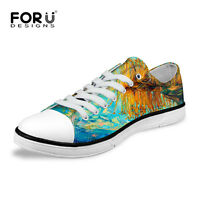 Mens Personality Casual Trainer Sneaker Low Top Canvas Lace Up Leisure Soft Pump