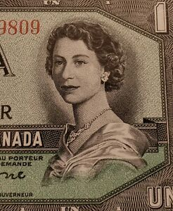 1954 Canada $1. DEVIL FACE Banknote. Beattie and Coyne Signed. GEM UNCIRCULATED.