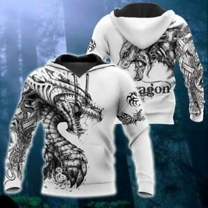 Tattoo And Dungeon Dragon V1 3D Hoodie All Over Printed Mothers Day Gift