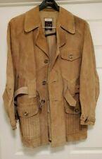 VTG 70's Men's Salik Suede Europe Craft Professors Coat Jacket Brown Size 44