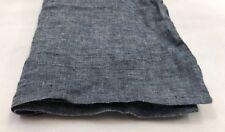 Restoration Hardware Vintage-Washed Belgian Linen Lumbar Sham Indigo NEW $79