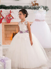Flower Girl Dress Communion Pageant Wedding Easter Graduation Bridesmaid Promlll