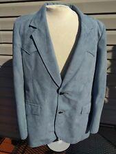 Pioneer Wear Vintage 60's Mens suit Jacket Blue velour wester poly/wool size 44L