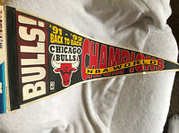 CHICAGO BULLS '91-'92 Back To Back NBA CHAMPS PENNANT