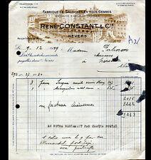 """NEVERS (58) USINE de GALOCHES & CHAUSSURES """"René CONSTANT"""" en 1949"""