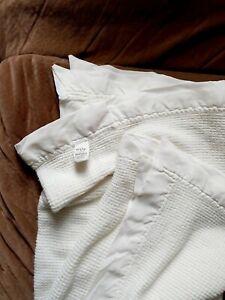 VTG Baby Morgan White ACRYLIC Blanket Waffle Weave Thermal 36x50 NYLON BINDING 4