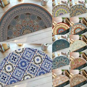 Non Slip Half Circle Round Moon Rugs Floor Carpets Mats Door Mat Doormats New