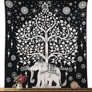 COTTON MANDALA TAPESTRY BOHEMIAN ELEPHANT WALL HANGINGS QUEEN INDIAN TAPESTRIES