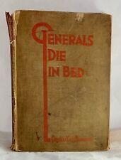 Generals Die in Bed Charles Yale Harrison September 1930 Morrow ed. WWI Novel