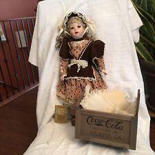 "Franklin Heirloom Dolls ""Sarah"" 20"" Porcelain Doll Coca-Cola 1995 - New"