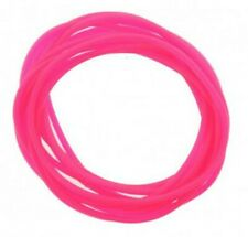 12 Pack Jelly Neon Pink Gummy Bangles Bracelets Wristbands 80's Fancy Dress