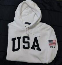 New Men's Polo Ralph Lauren USA Pullover Hoodie Size XXL 2XL