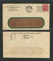 1932 A G HILDRETH CO WORCESTER MASS ADVERTISING COVER US STAMPED ENVELOPE