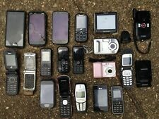 Cell Phone, Camera, Charger Base, and Gps Lot of 20, Untested for Parts, Repair