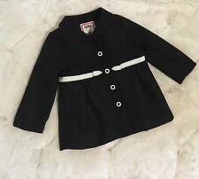 NWT Gymboree Olivia Bow Peacoat 12-24 Months NEW Black Coat Jacket Dress Girls